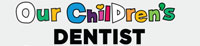 Our children's dentist logo on gray background