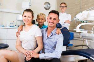 family prepares for dentistry appointment
